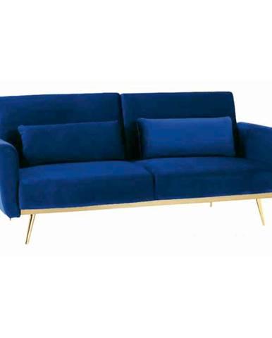 Rozkladacia pohovka kráľovská modrá Velvet látka/gold chróm-zlatý HORSTA
