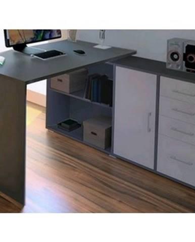 Rohový písací stôl Lift AS69%