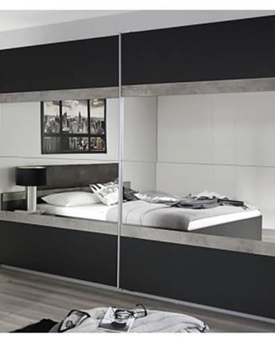 Šatní skříň Penzberg, 226 cm, šedá/beton%