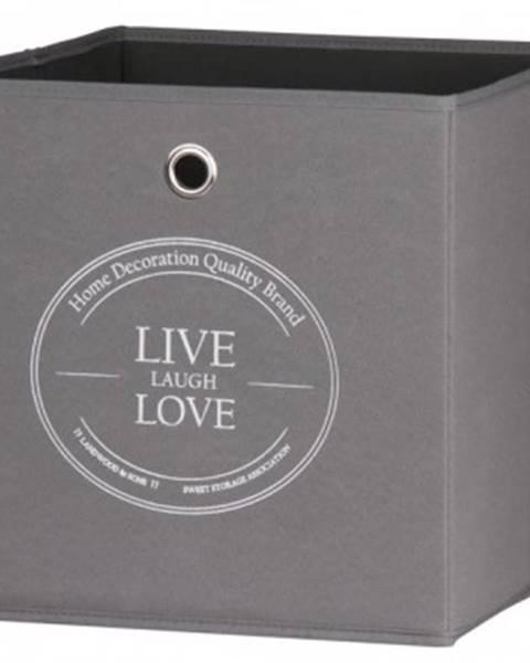 ASKO - NÁBYTOK Úložný box Alfa, motiv Live Love%