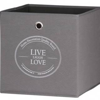 Úložný box Alfa, motiv Live Love%
