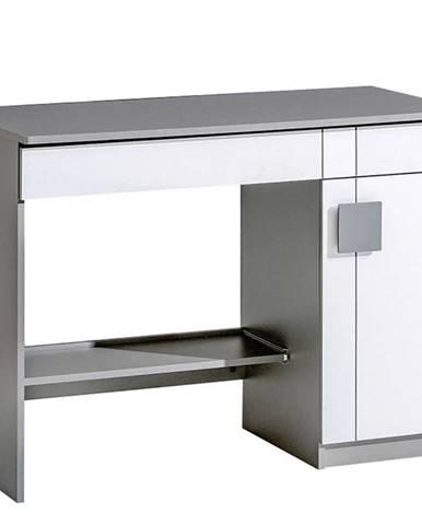 Písací stôl Gumi G6 Brilantná biela/Antracyt