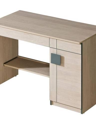 Písací stôl Gumi G6 Dub Santana/Sivá