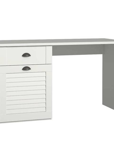 MERKURY MARKET Písací stôl Marida 1D1S MDNB212ln biela