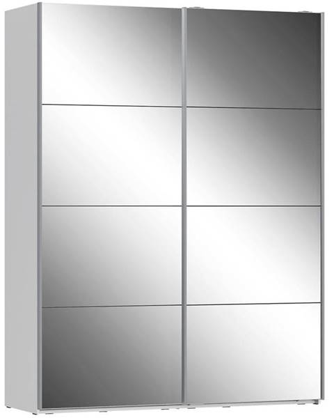 MERKURY MARKET Skriňa Olivia 170 biela/zrkadlo 2D