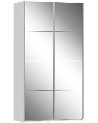Skriňa Olivia 120 biela/zrkadlo 2D