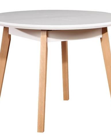 Stôl ST39 100+30 biely/buk