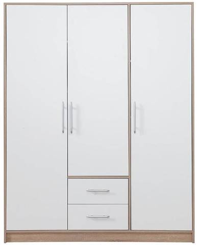 Skriňa Smart SR2 150 cm dub sonoma/biela