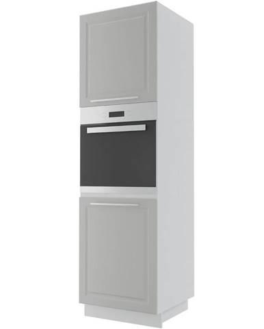 Kuchynská skrinka Emporium D14RU/2D light grey stone/biela
