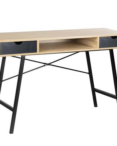 Písací stôl Loft sonoma/ cierny