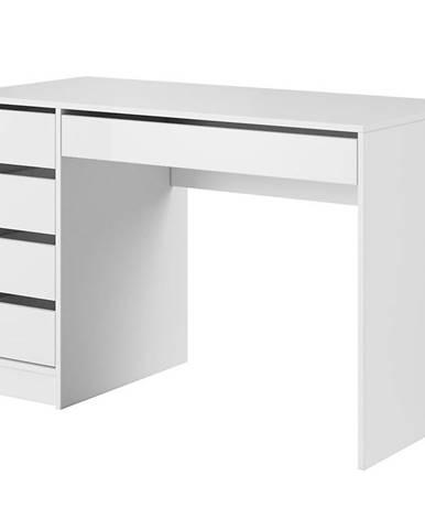 Písací stôl Ada biely lesk