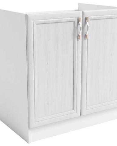 Skrinka do kuchyne Sycylia  D80z biela/dub lancelot