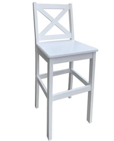 Barová stolička Mars biely