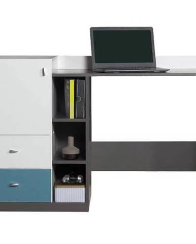 Písací stôl Tablo TA9 biela / atlantic