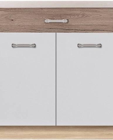Skrinka do kuchyne Econo 6D Sonoma/Biely/San Remo