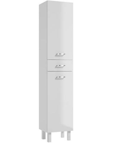 Vysoká skrinka do kúpeľne Catania C170 2D1S DSM white