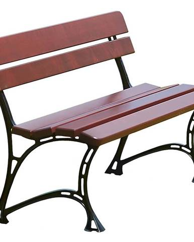 Drevený záhradný nábytok lavička královská farba višňa