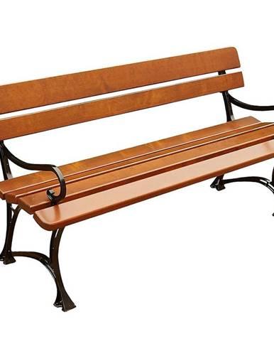 Drevený záhradný nábytok lavička královská s opierkami farba cyprus