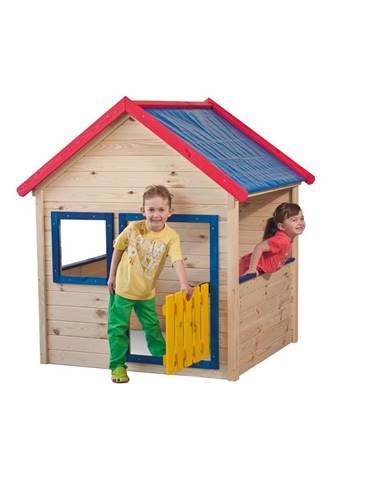 Woody Drevený záhradný domček s farebným lemovaním 10110