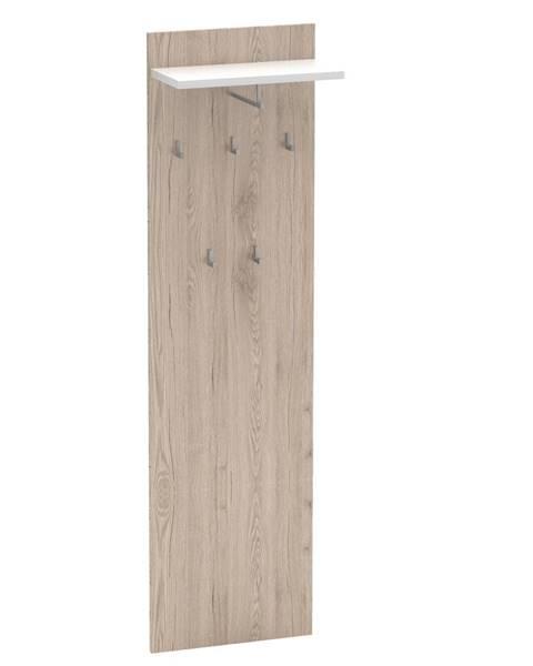 Kondela Vešiakový panel san remo/biela RIOMA TYP 19