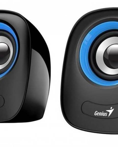 Genius PC reproduktory Genius SP-Q160 Blue, 2.0, 6 W, čierno-modré