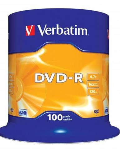 Disk Verbatim DVD-R, 4,7GB, bez možnosti potlače, 100 ks 43549