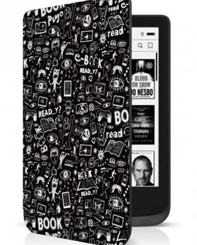 Puzdro Connect IT pre PocketBook 616/627/632, doodle čierne ROZBA