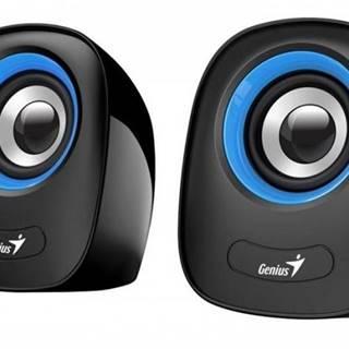 PC reproduktory Genius SP-Q160 Blue, 2.0, 6 W, čierno-modré
