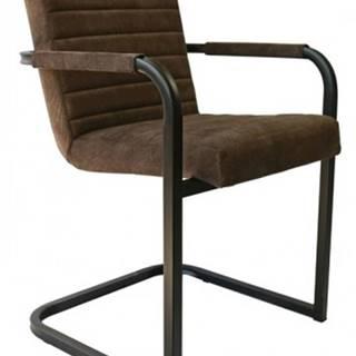 Jedálenská stolička Merenga čierna, tmavo hnedá