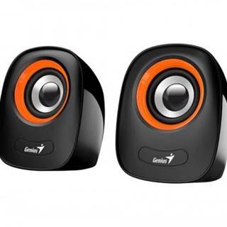 PC reproduktory Genius SP-Q160 Orange, 2.0, 6 W, černo-oranžové