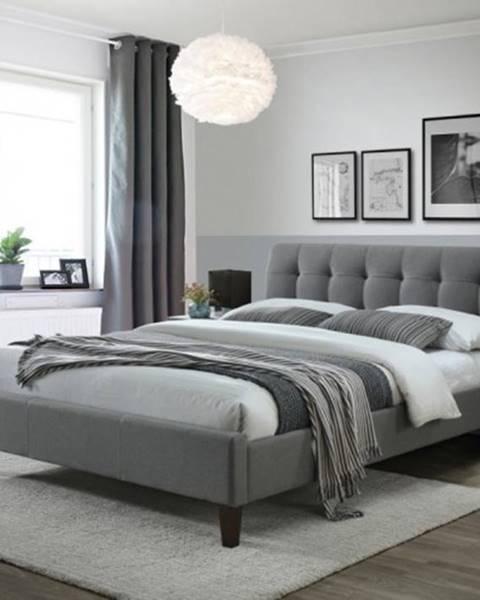 OKAY nábytok Čalúnená posteľ Vanessa 160x200, vrátane roštu, bez ÚP a matraca