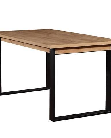 Stôl ST42 150x85+48 dub wotan/cierny