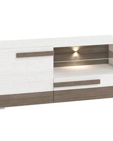 TV stolík Blanco 10 128 borovica snežná/new grey