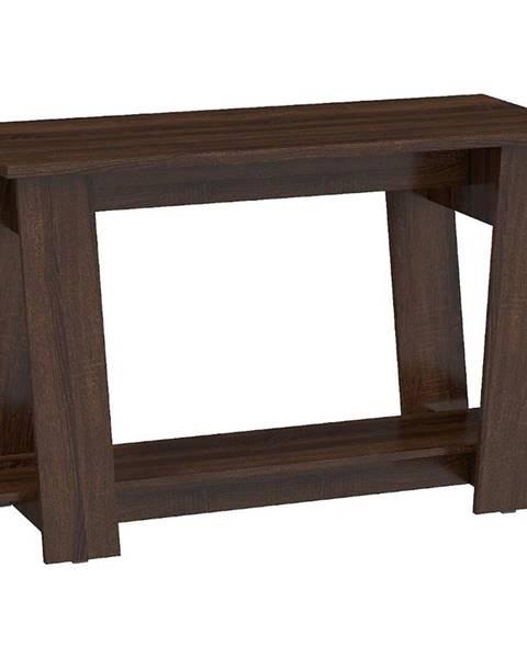 MERKURY MARKET Písací stôl Via sonoma tmavý