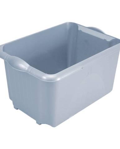 Sivý úložný box z recyklovaného plastu Addis Eco Range, 30 l