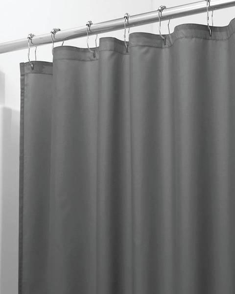iDesign Sivý sprchový záves iDesign, 183 x 183 cm