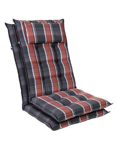 Blumfeldt Sylt, čalúnená podložka, podložka na stoličku, podložka na vyššie polohovacie kreslo, vankúš, polyester, 50 × 120 × 9 cm