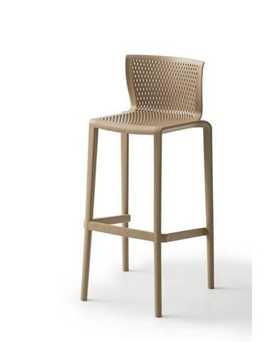 Barová stolička spiker Plast sivohnedá