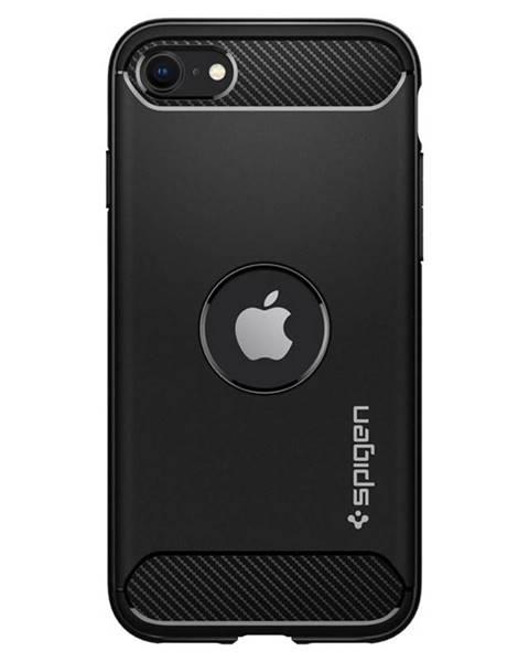 Spigen Kryt na mobil Spigen Rugged Armor na Apple iPhone SE 2020 čierny
