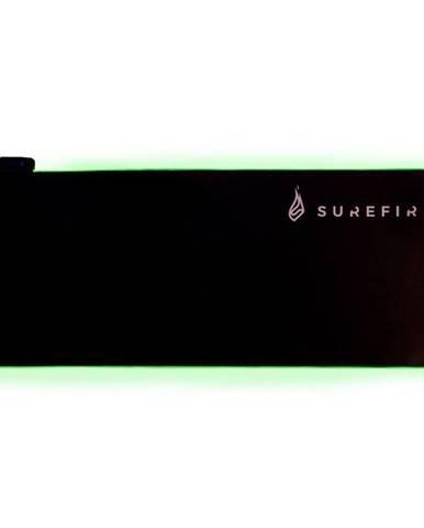 Podložka pod myš  SureFire Silent Flight RGB-680, 68 x 28 cm čierna