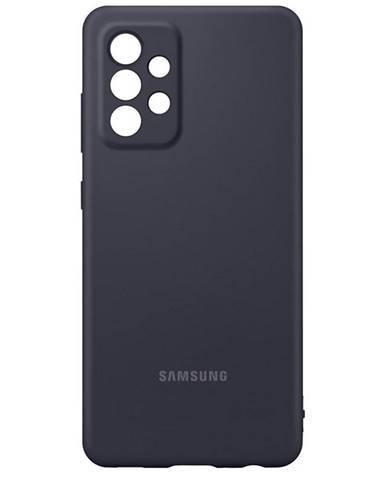 Kryt na mobil Samsung Silicon Cover na Galaxy A52 čierny