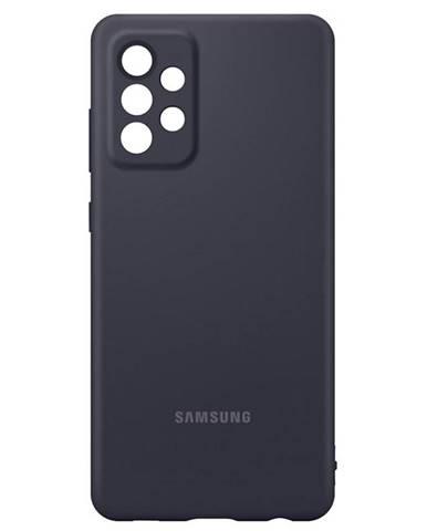 Kryt na mobil Samsung Silicon Cover na Galaxy A72 čierny