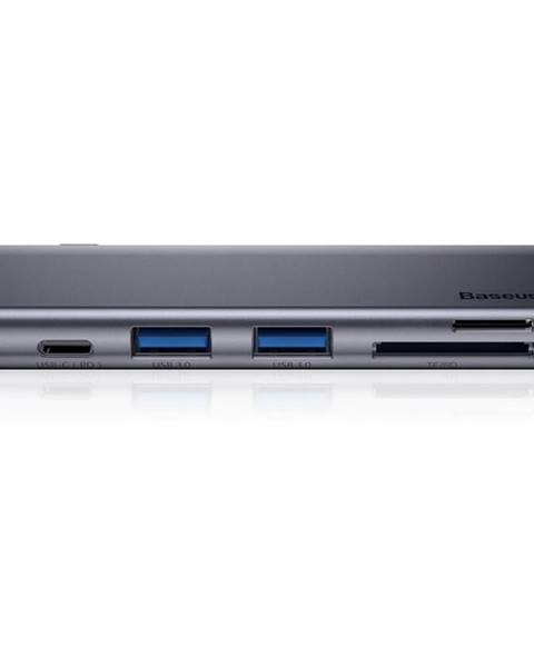 Baseus Dokovacia stanica Baseus USB-C/USB-C PD, 2x USB 3.0, micro SD, SD,