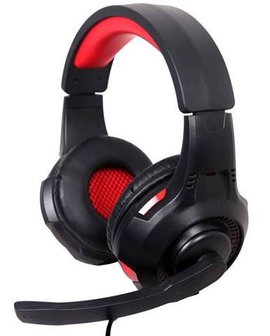 Headset  Gembird GHS-U-5.1-01, 5.1 surround čierny/červený