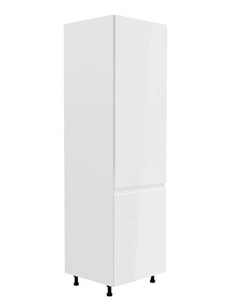 Tempo Kondela Skrinka na chladničku biela/biela extra vysoký lesk pravá AURORA D60ZL