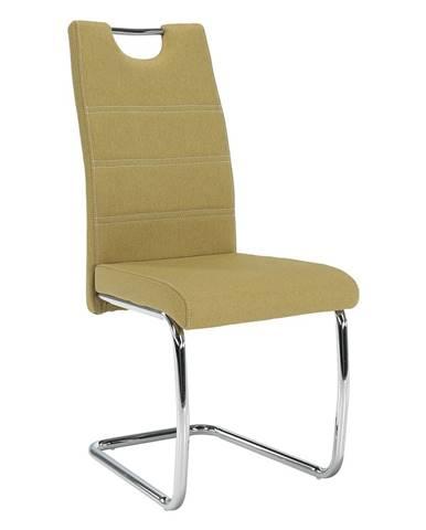 Jedálenská stolička zelená/svetlé šitie ABIRA NEW rozbalený tovar