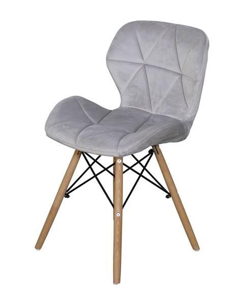 IDEA Nábytok Jedálenská stolička ALFA sivý zamat