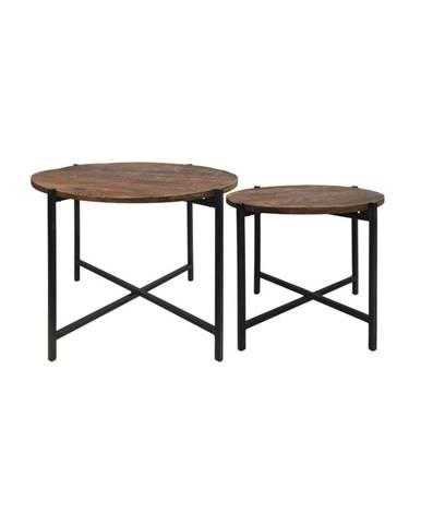 Sada 2 konferenčných stolíkov z mangového dreva HSM collection Nordic