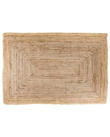 Svetlohnedý koberec HoNordic Bombay, 90 × 60 cm