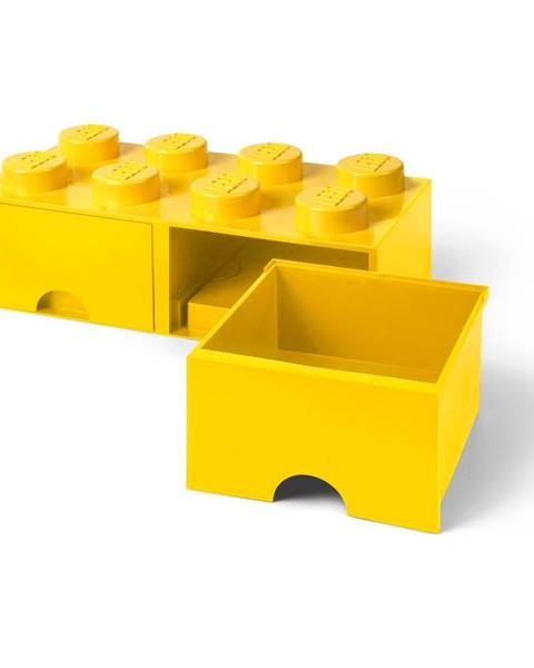 LEGO® Žltý úložný box s dvoma zásuvkami LEGO®